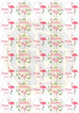 Flamingo Happy Post - Two Designs